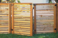 Wood is a great and popular option. Wood is very popular and timeless and comes in lots of styles and customizations. If you maintain your wood fence, it can last a long time on your property!