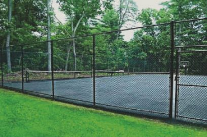 Chain link fencing is great if you are looking for a more affordable option. Chain link can come in lots of different colors with the vinyl coatings and can also be a privacy fence with the vinyl slats that can be inserted. You have lots of choices with chain link!
